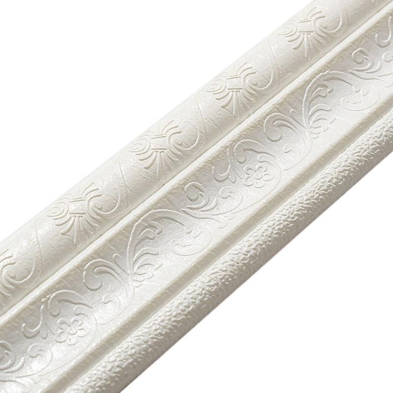 Edge 16FT, White Home Decor Mirror Peel and Stick Molding Trim Waterproof Trim for Door Wall Trim Self Adhesive