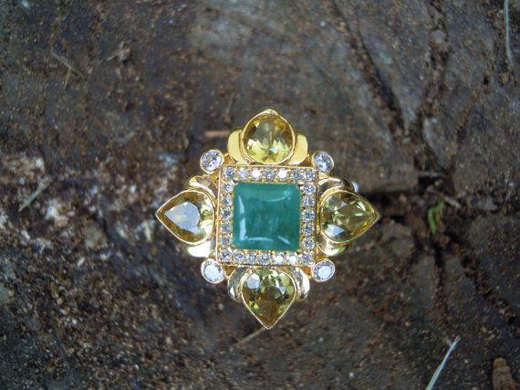 Ladies 14k yellow gold Emerald Golden Beryl by CambridgeJewelers, $5448.90