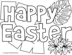 Happy Easter 1 Coloring Page Easter Coloring Pages Easter Colouring Easter Drawings