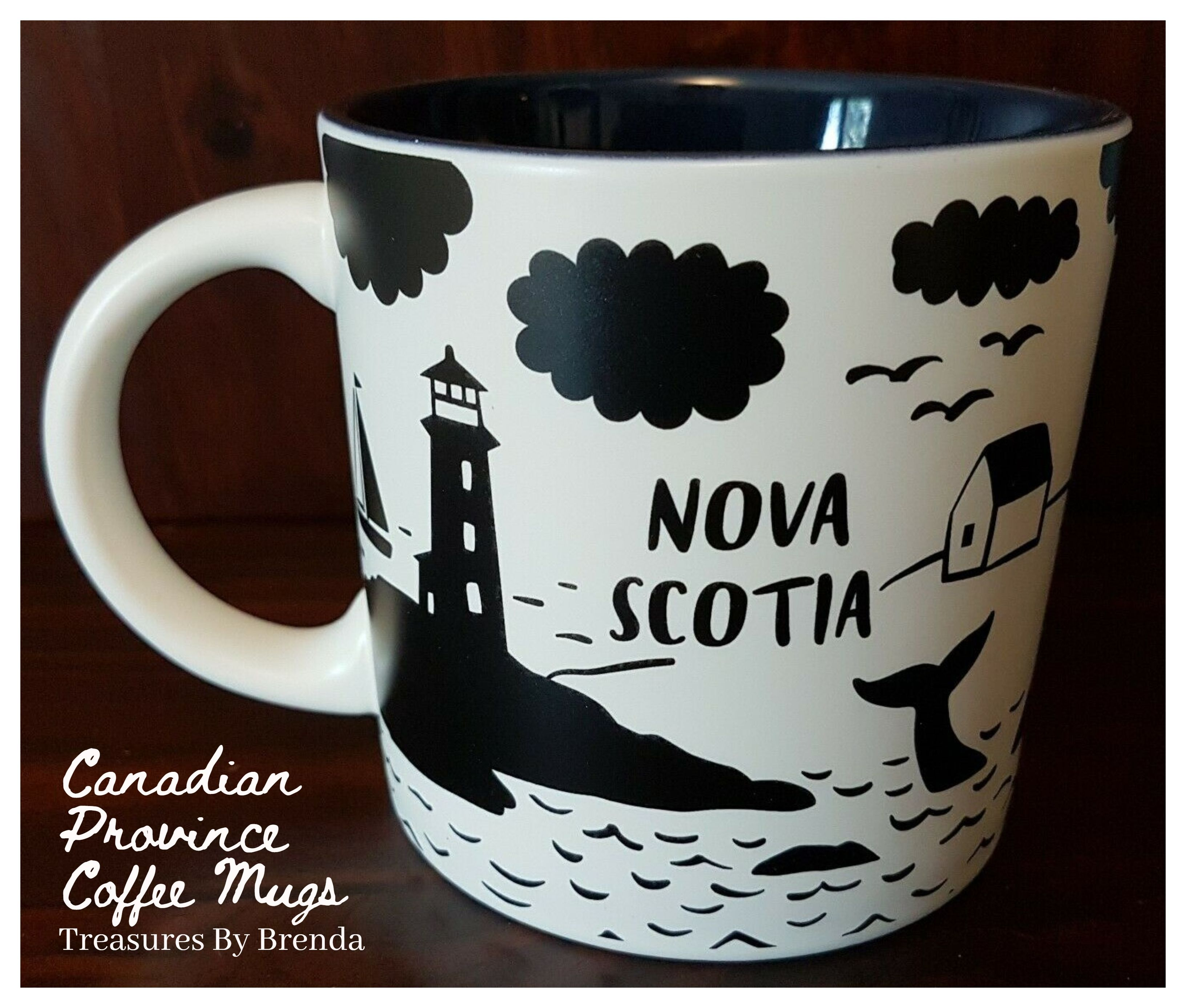 Canadian Province Coffee Mugs Nova Scotia. Celebrate