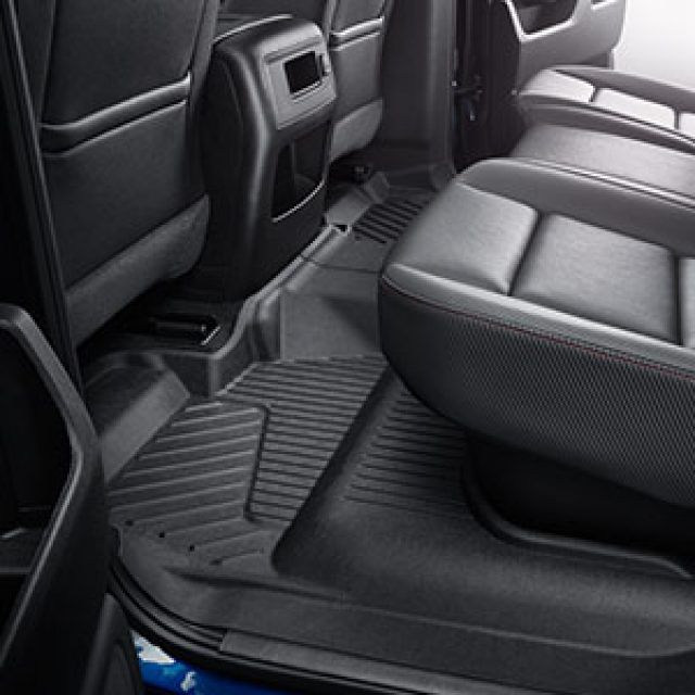 2018 Silverado 1500 Floor Liners Black Rear Row Crew Cab