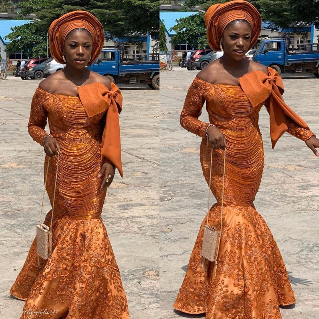 "Aso Ebi Flexingstyles247 on Instagram: ""Superb Asoebi styles for your next Owambe,that has been carefully selected  Published on 14 November 2019  Follow us @flexingstyles247…"" #nigeriandressstyles"