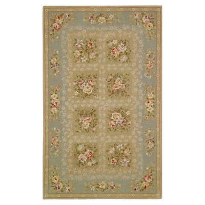 Safavieh FT211B French Tapis Area Rug, Grey/Green