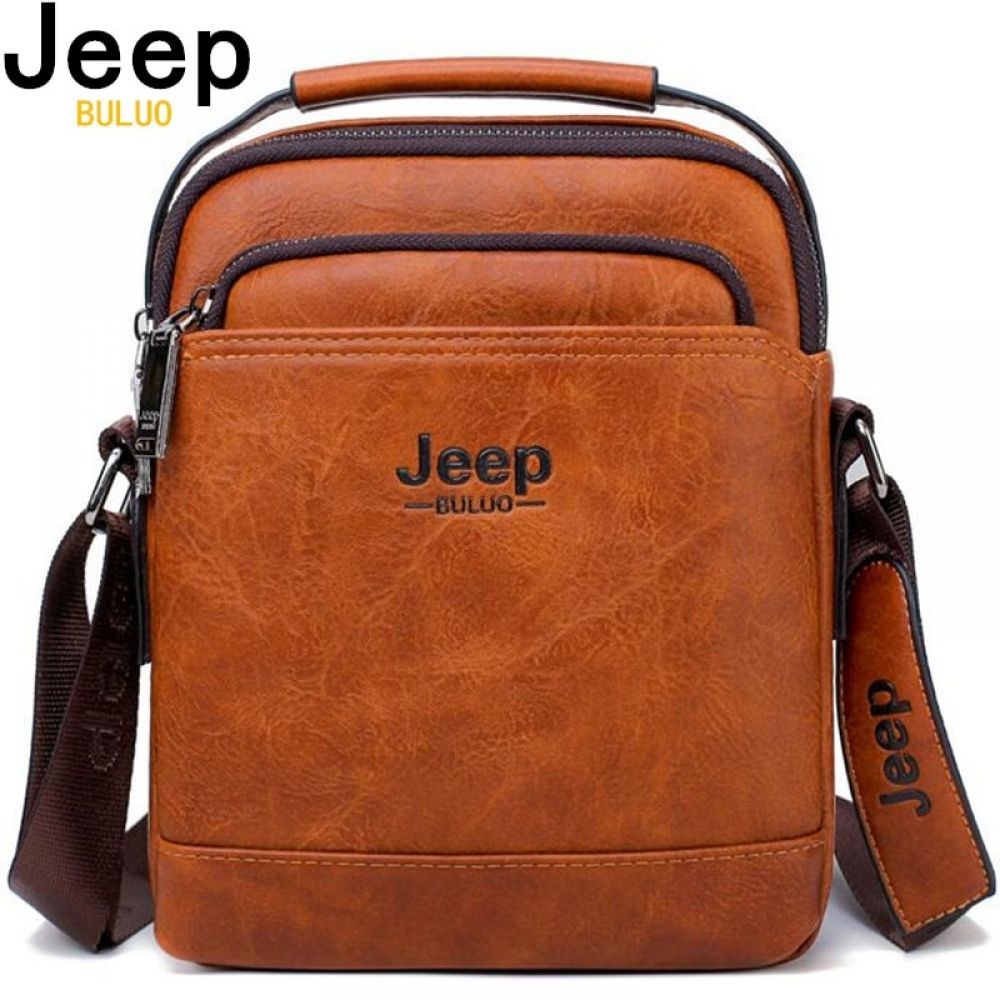 942a8d573e89 JEEP BULUO Split Leather Men Messenger Bag Price  37.99   FREE Shipping   Leatherbags
