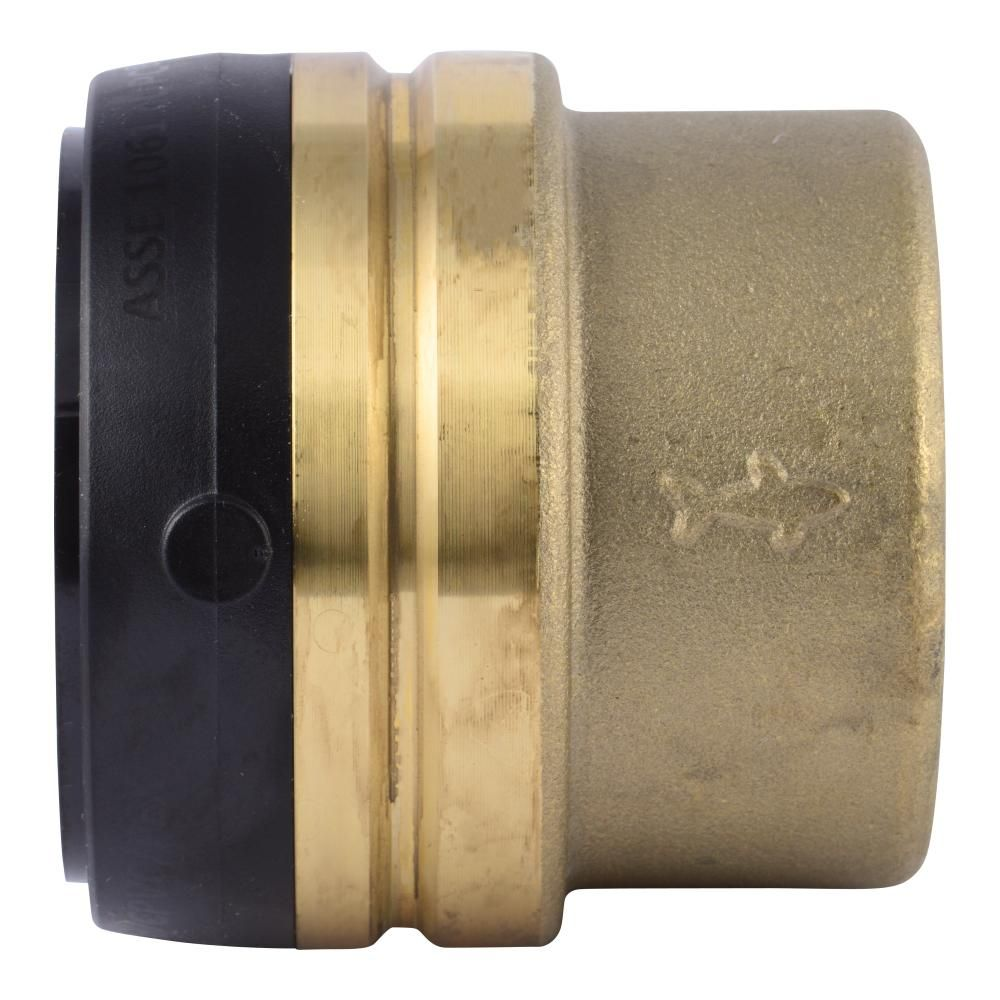 Sharkbite 2 In Push To Connect Brass End Cap Fitting In 2020 Brass Brass Material Brass Color