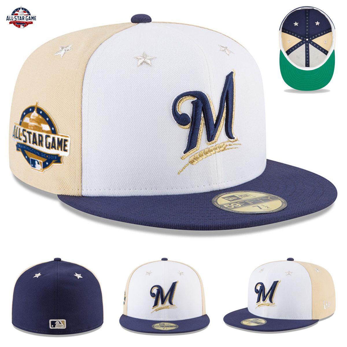 Milwaukee Brewers New Era 2018 MLB All-Star Game Hat Cap On-Field 59FIFTY  Fitted Each year you look forward to MLB All-Star Week and seeing all your  ... 223a4edc96f