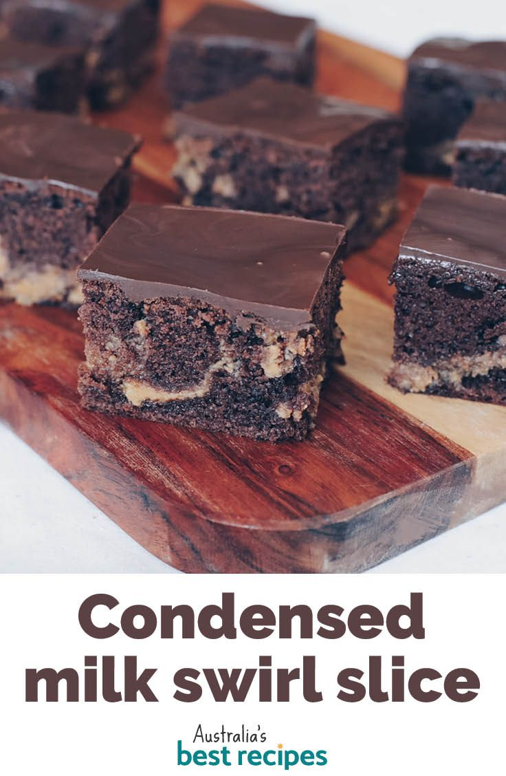 Condensed Milk Swirl Slice In 2020 Condensed Milk Recipes Desserts Milk Recipes Dessert Milk Recipes