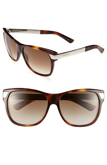 1303f75e08eb Gucci 57mm Sunglasses (Online Exclusive) available at  Nordstrom Sunglasses  2014