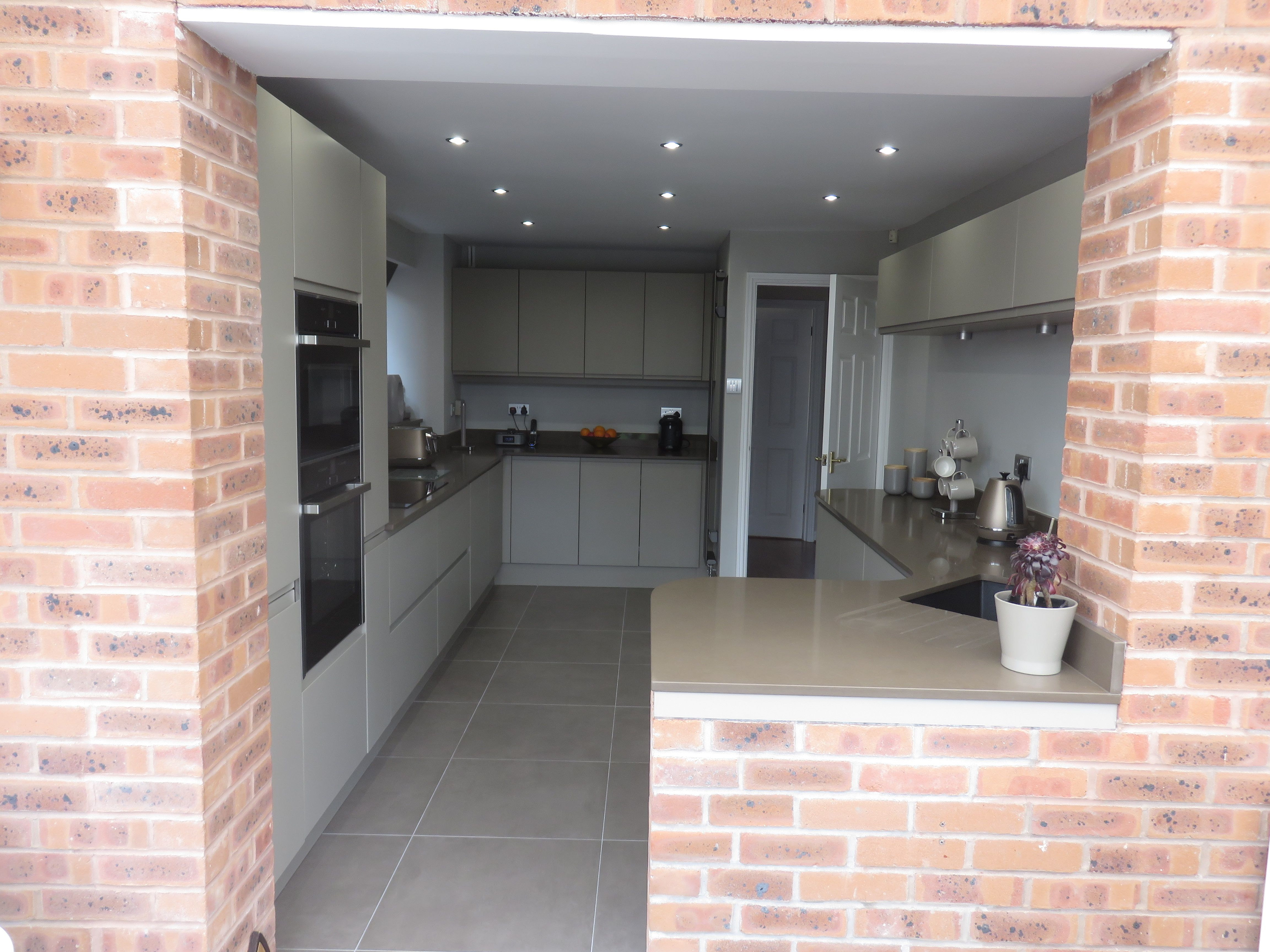 Kitchens in Dudley Handleless matt painted kitchen by