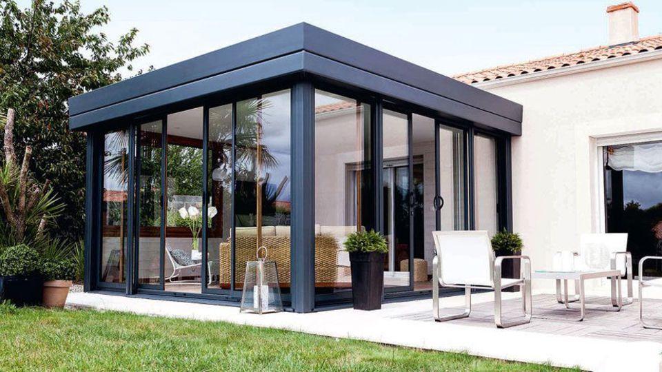 Véranda  15 modèles du0027extension de maison Extensions, En passant - maison avec toit en verre