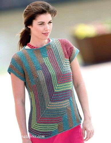 Striped Pullover Designed By Kennita Tully Knitting Pattern