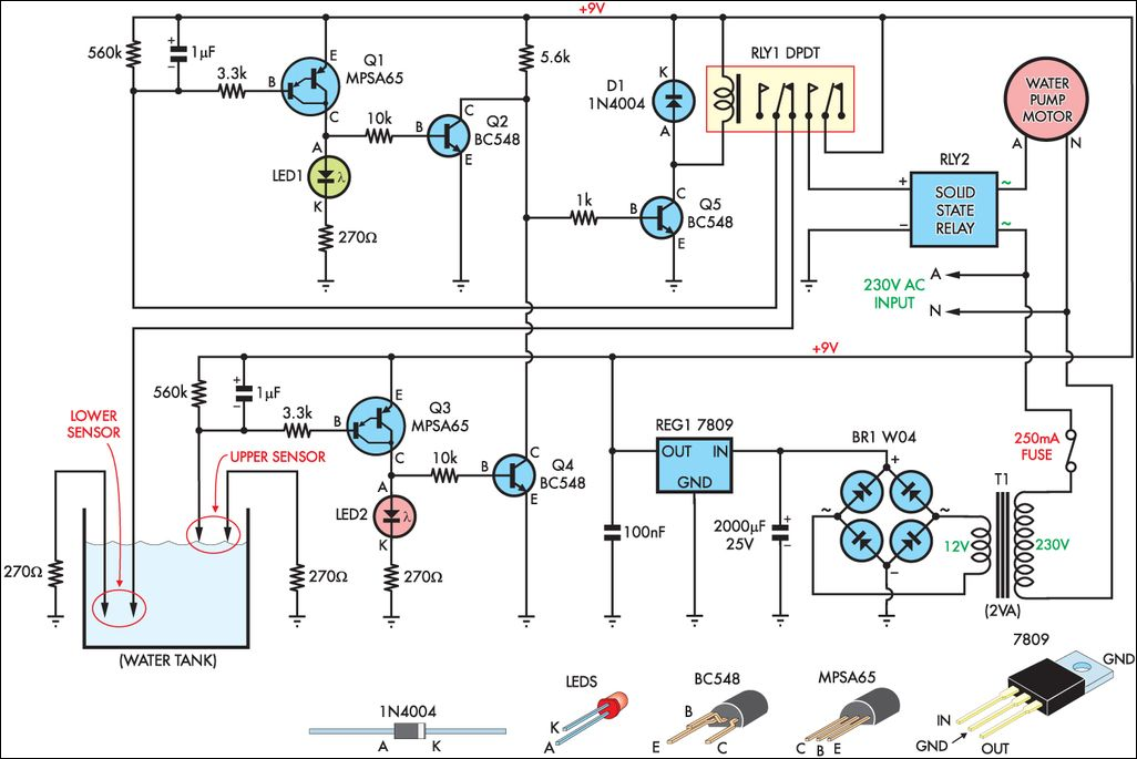 Automatic Water Tank Filler Circuit Diagram Jpg With Images