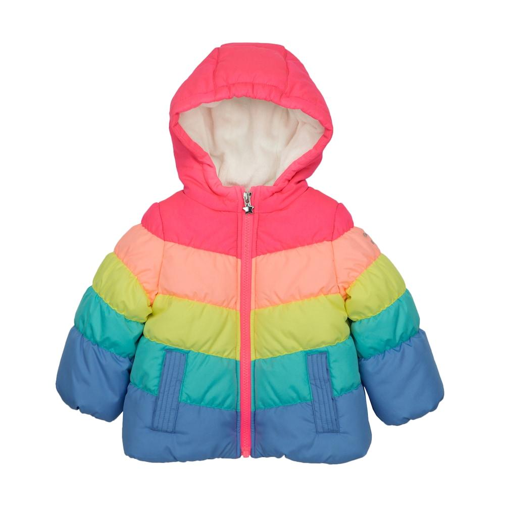 882adea41 Baby Girl OshKosh B gosh® Heavyweight Chevron Rainbow Jacket