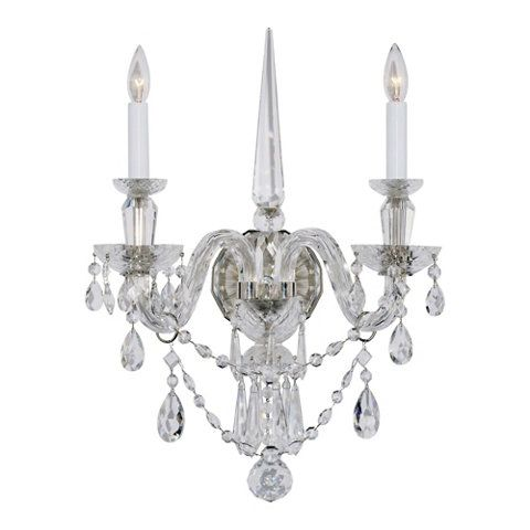 Daniela medium two light sconce in crystal new arrivals lighting products ralph lauren home