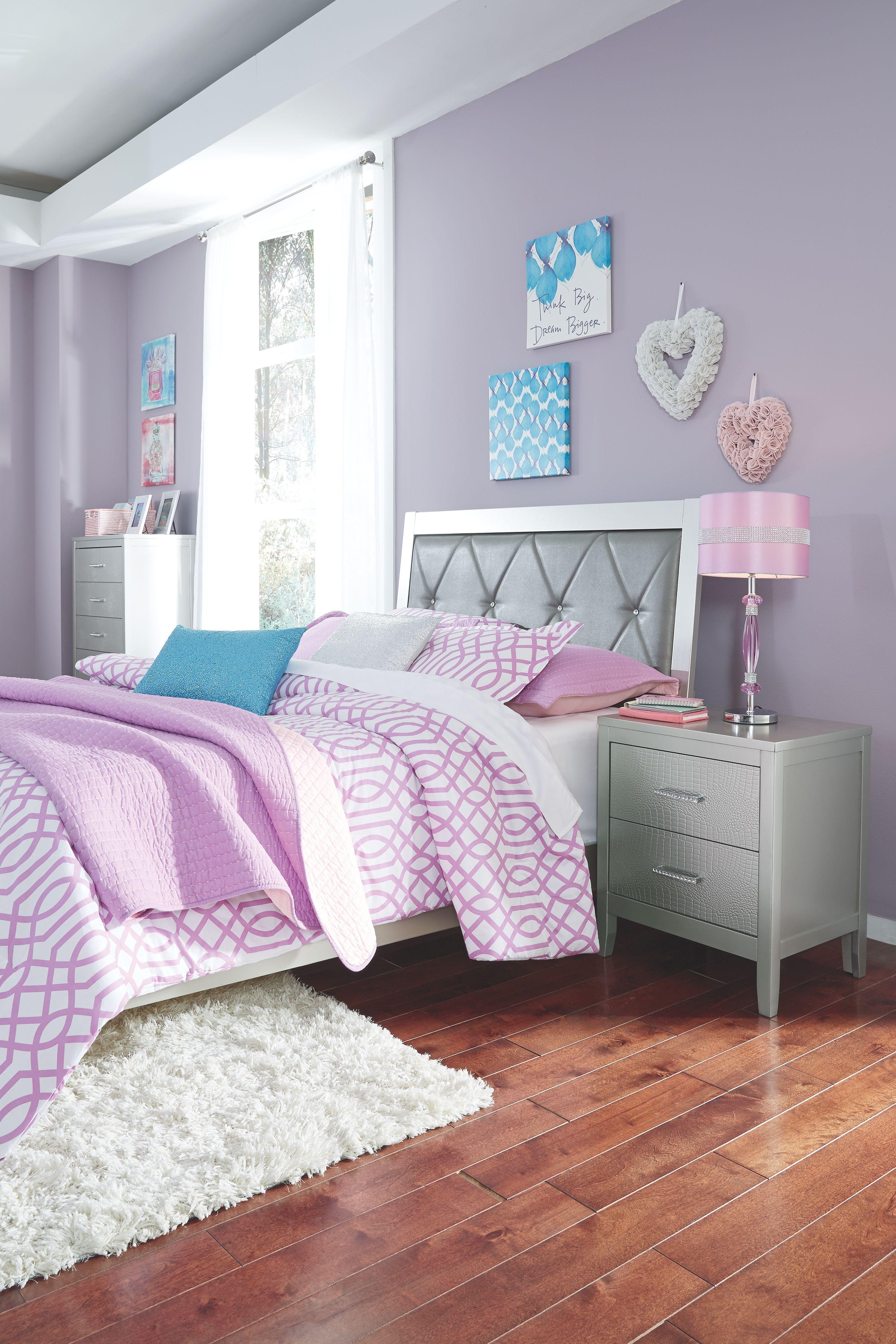 Best Olivet Full Panel Bed Silver Bedroom Sets Furniture 400 x 300