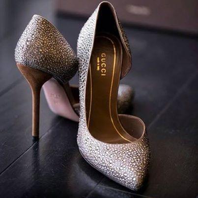 #gucci #crystal #heels