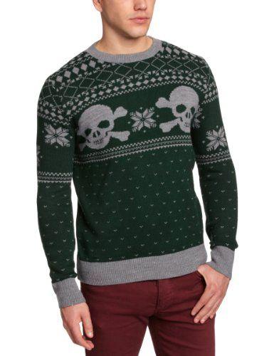Run & Fly Unisex Skull N Crossbones Fair Isle Christmas Jumper ...
