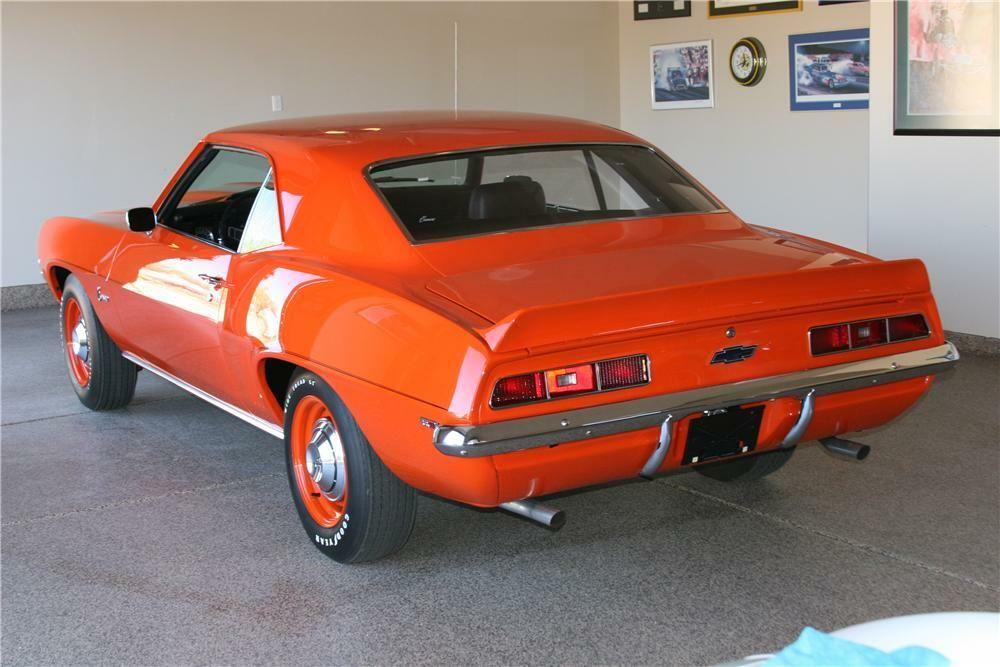 1969 Chevrolet Camaro Zl1 Copo Re Creation Rear 3 4 177035 Chevrolet Camaro Zl1 Classic Cars Muscle Camaro