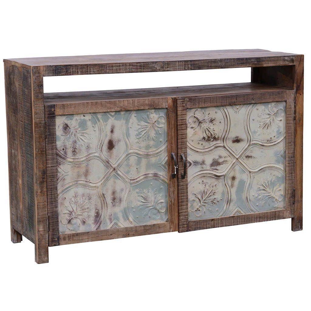 pressed metal furniture. Marietta Pressed Tin Small Console Metal Furniture D