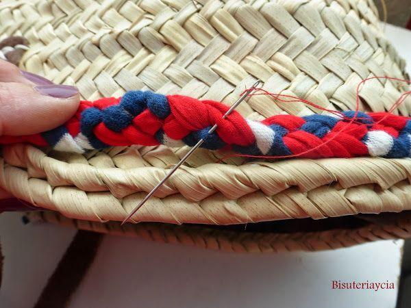 Cesto o capazo de mimbre para la playa decorado y personalizado summer bags diy crochet and - Capazo mimbre playa ...