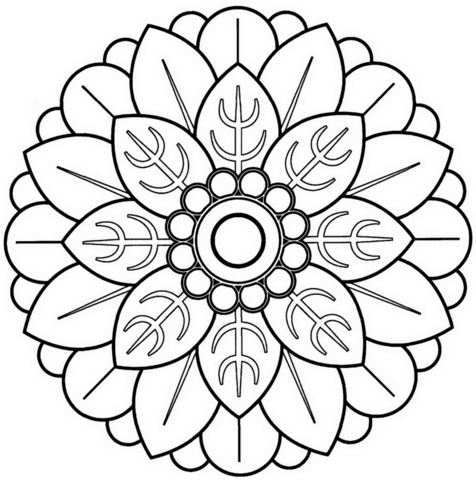 60 Imgenes de Mandalas para colorear dibujos para descargar e