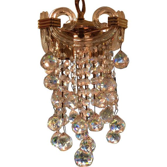 Spectacular Small Austrian Crystal Chandelier