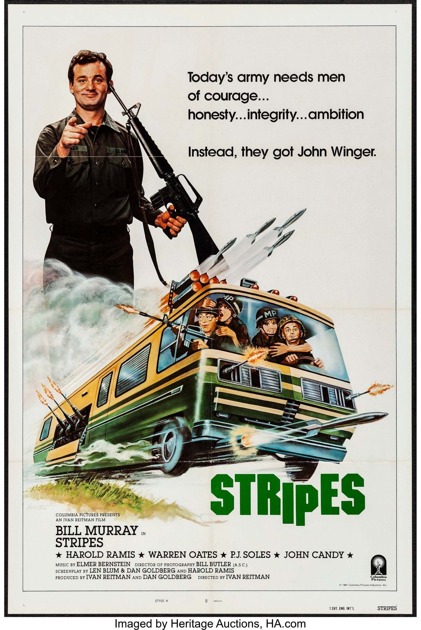 STRIPES (1981) Classic Movie Posters, Movie Poster Art, Best Movie Posters,