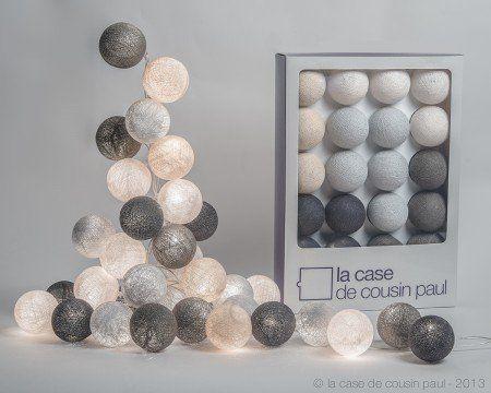 La Case de Cousin Paul - Guirlande lumineuse 20 boules colorées - Modèle Brooklyn: Amazon.fr: Cuisine & Maison