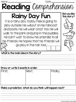 Reading Response Passages Digital Version In Google Slides Included Reading Comprehension Reading Comprehension Passages Reading Fluency Main idea first grade worksheets