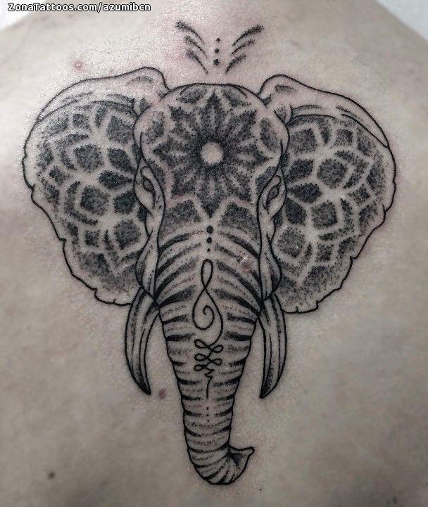 Tatuaje hecho por Azumi de Barcelona (España). Si quieres ponerte en contacto con él para un tatuaje/diseño o ver más trabajos suyos visita su perfil: https://www.zonatattoos.com/azumibcn  Si quieres ver más tatuajes de elefantes visita este otro enlace: https://www.zonatattoos.com/tag/252/tatuajes-de-elefantes  Más sobre la foto: https://www.zonatattoos.com/tatuaje.php?tatuaje=107847