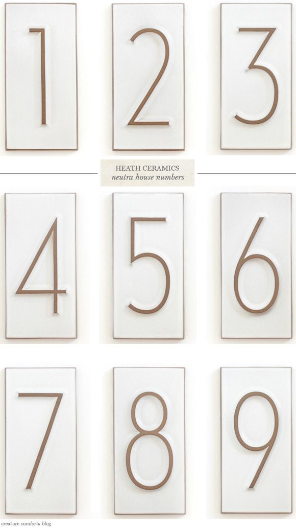1000+ images about House Numbers on Pinterest Modern fonts ... - ^