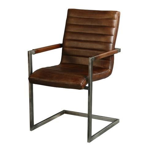 Vintage Stühle stuhl aus leder freischwinger esszimmer stühle
