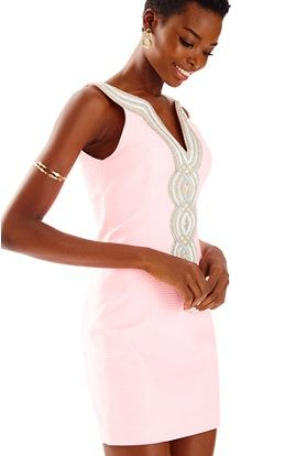 Cute And Pink Lillypulitzer Valli Shift Dress For Summer Wedding Guest Outfit