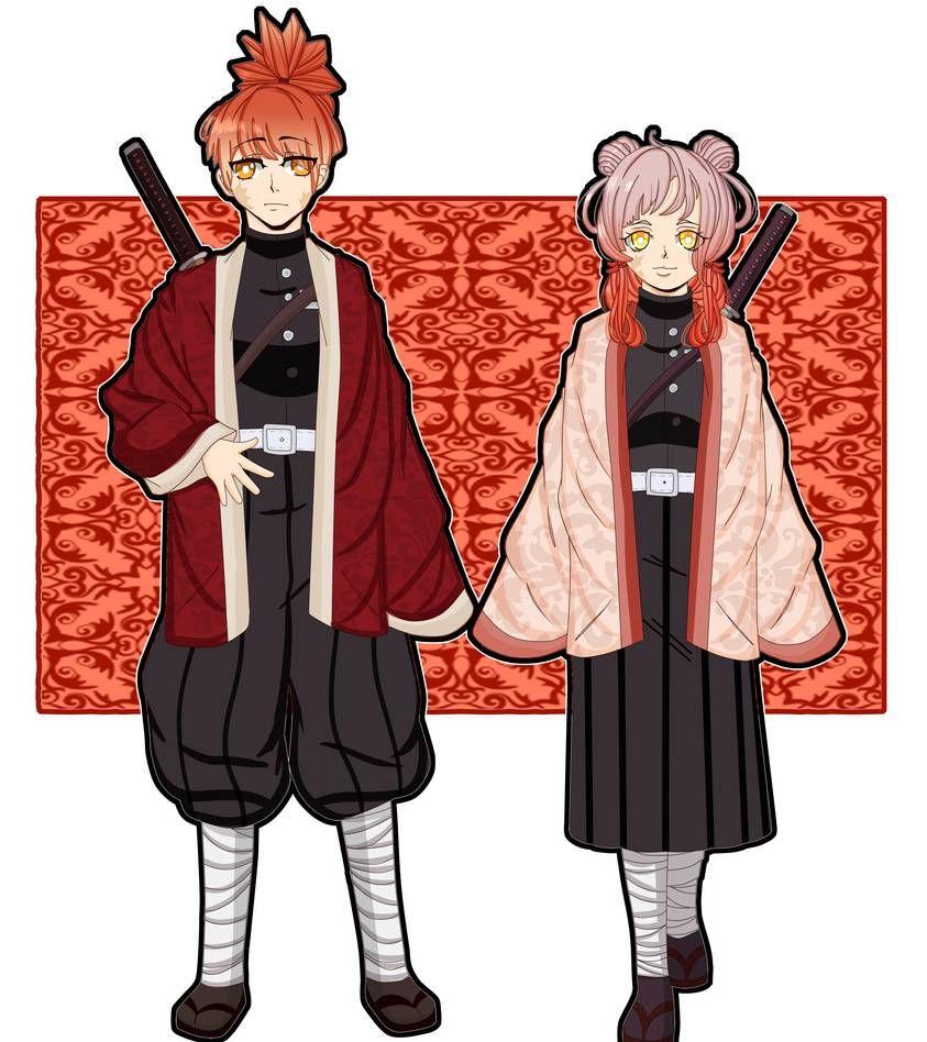 Akiguchi Siblings [Kimetsu no Yaiba OCS ] by Scribbez on