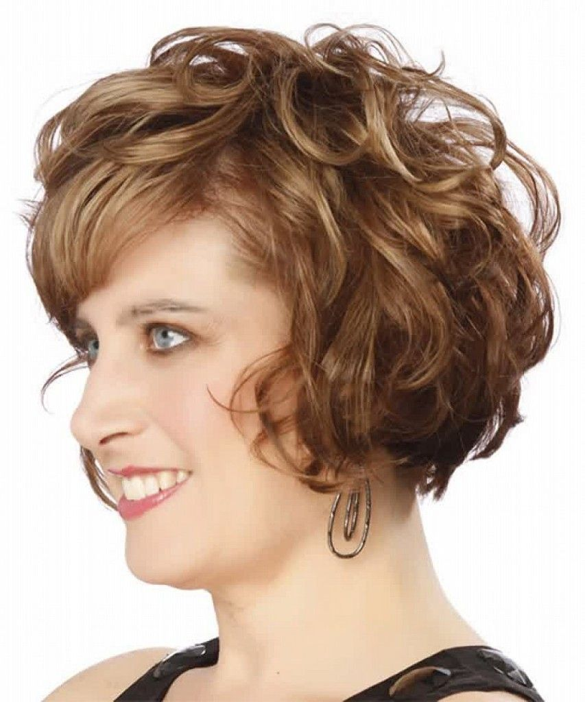 Round faces hairstyles cute bob hairstyles for short curly hair with