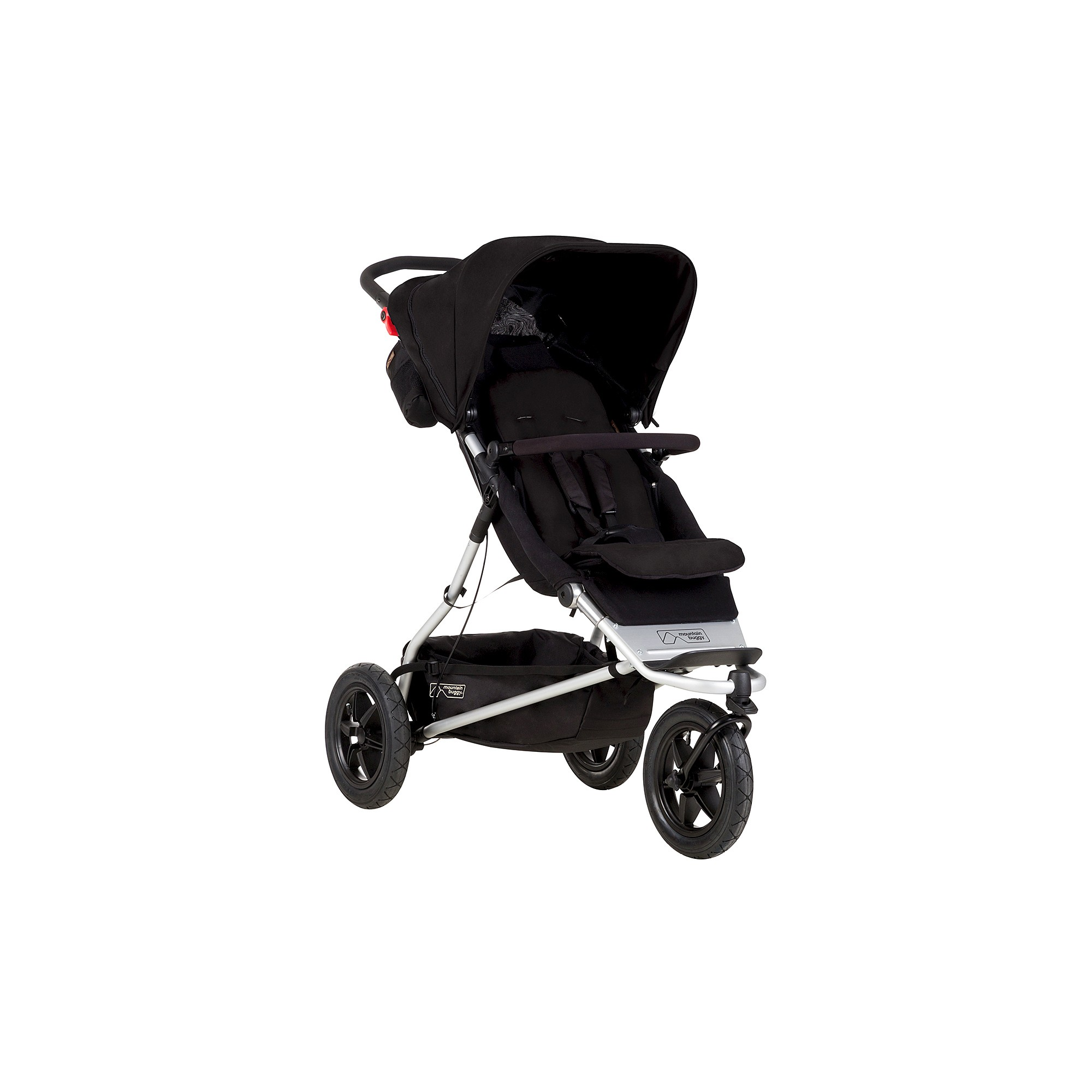 Mountain Buggy Plus e Inline Double Stroller Black Black