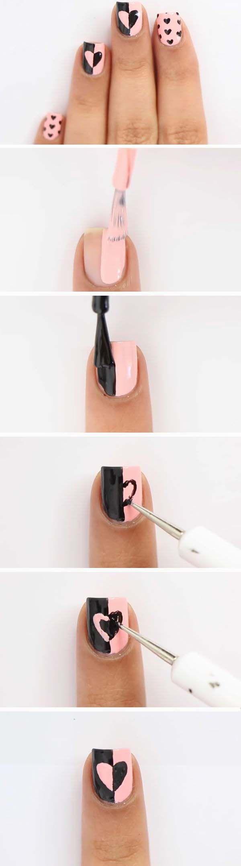 Easy valentines day nail designs uñas decoradas pinterest easy
