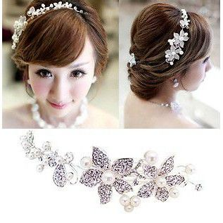 花嫁 結婚式 披露宴 二次会ウェディングドレス 素敵 髪飾り 首飾り