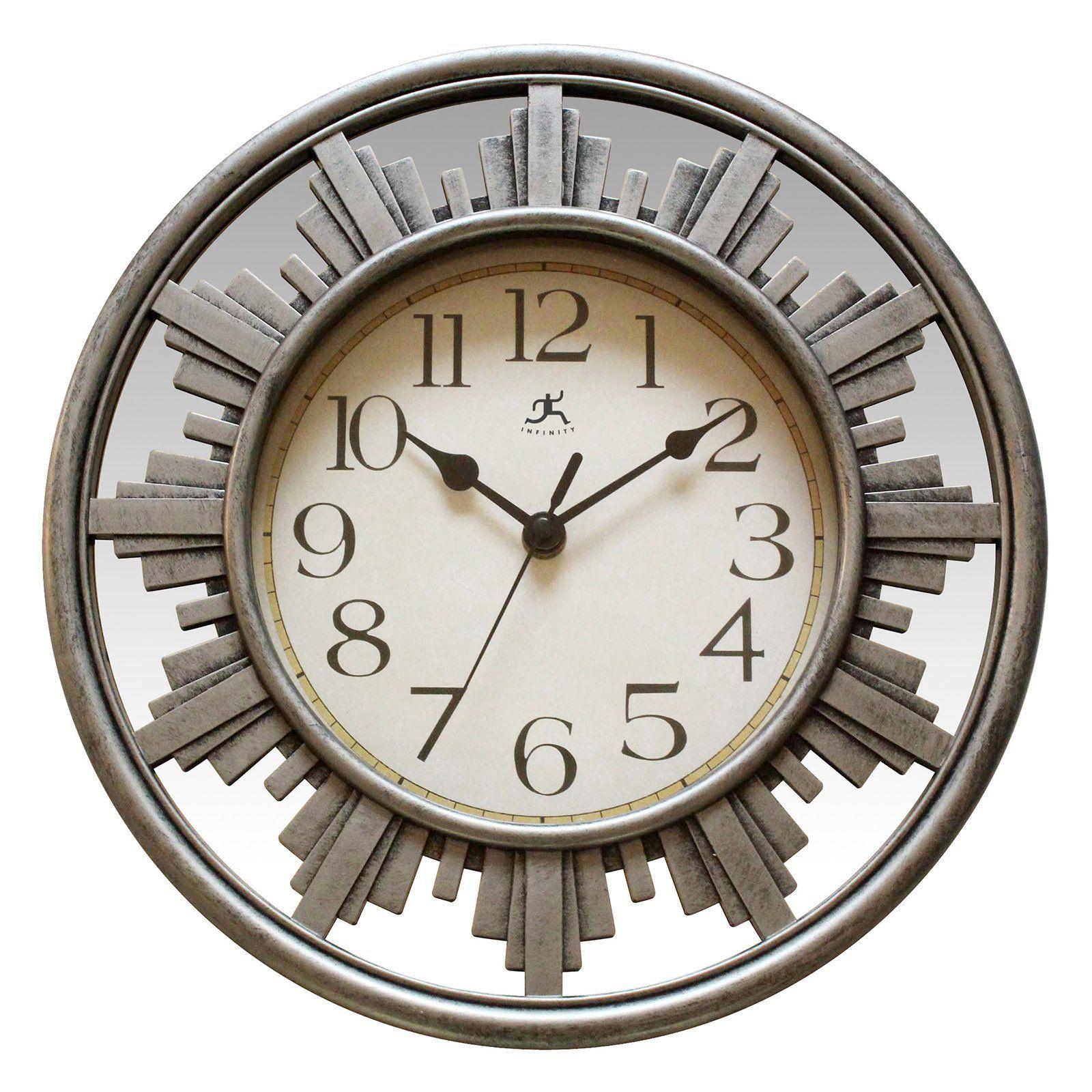 Infinity Instruments City Road Wall Clock From Hayneedle Com Contemporary Traditional Clocks