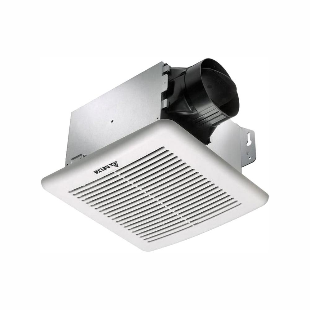 Delta Breez Greenbuilder G2 Series 80 Cfm Wall Or Ceiling Bathroom Exhaust Fan With Adjustable Humidity Sensor Energy Star Gbr80h Bathroom Exhaust Fan Energy Star Humidity Sensor