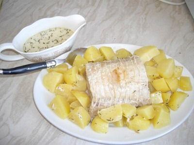 Recette - Rôti de porc au lait, pommes fondantes | 750g