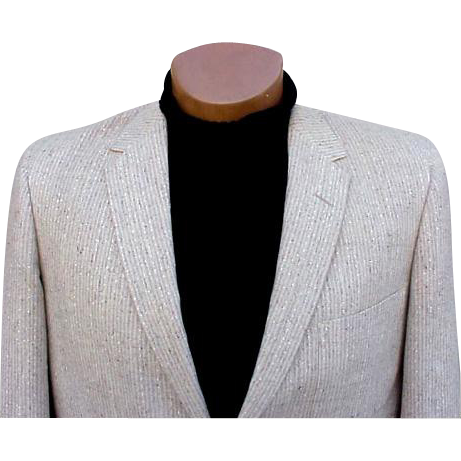 Vintage 1960s Men's Blazer Sports Coat Jacket Size 44 R
