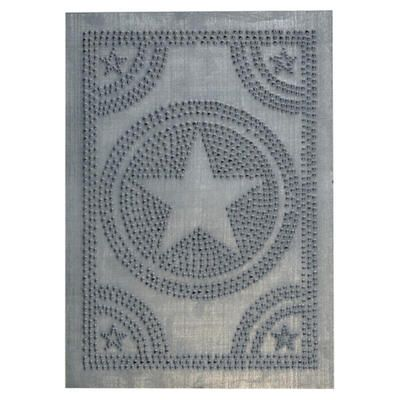 Regular Star Punched Tin Panels Three Finishes Available