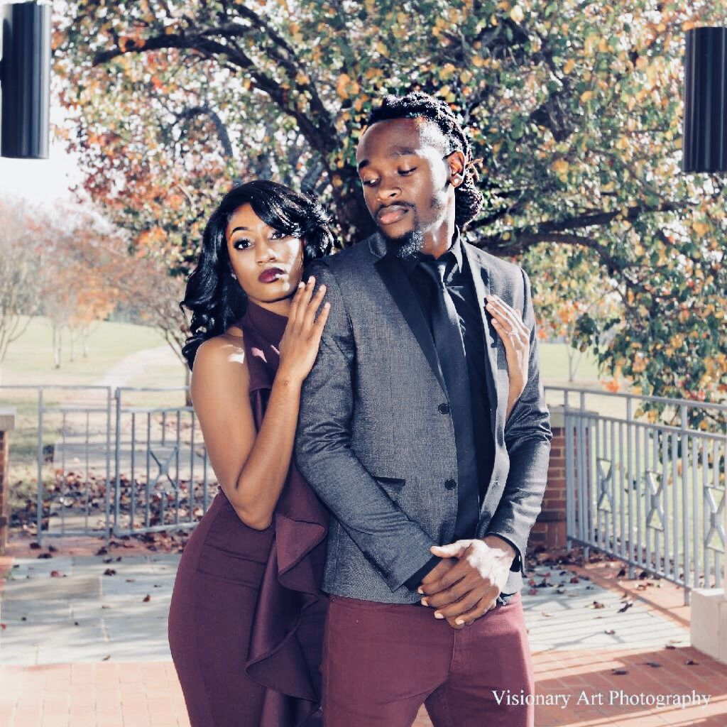 blacklove engagement matching outfits scenery