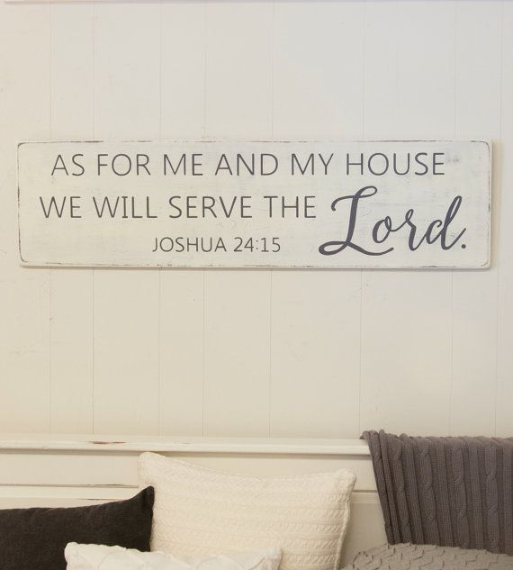As For Me And My House Sign Bible Verse Sign Scripture Etsy Bible Verse Signs Wood Signs Bible Verse Above Couch Decor