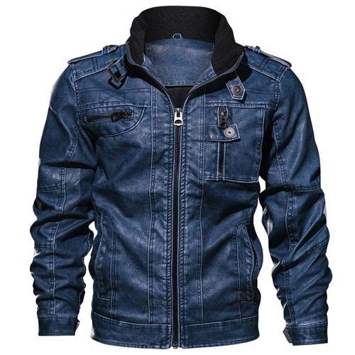 Jackets men slim fit casual outwear bomber jacket winderbreaker pu motorcycle leather jackets male fur coat 6xl 7xl