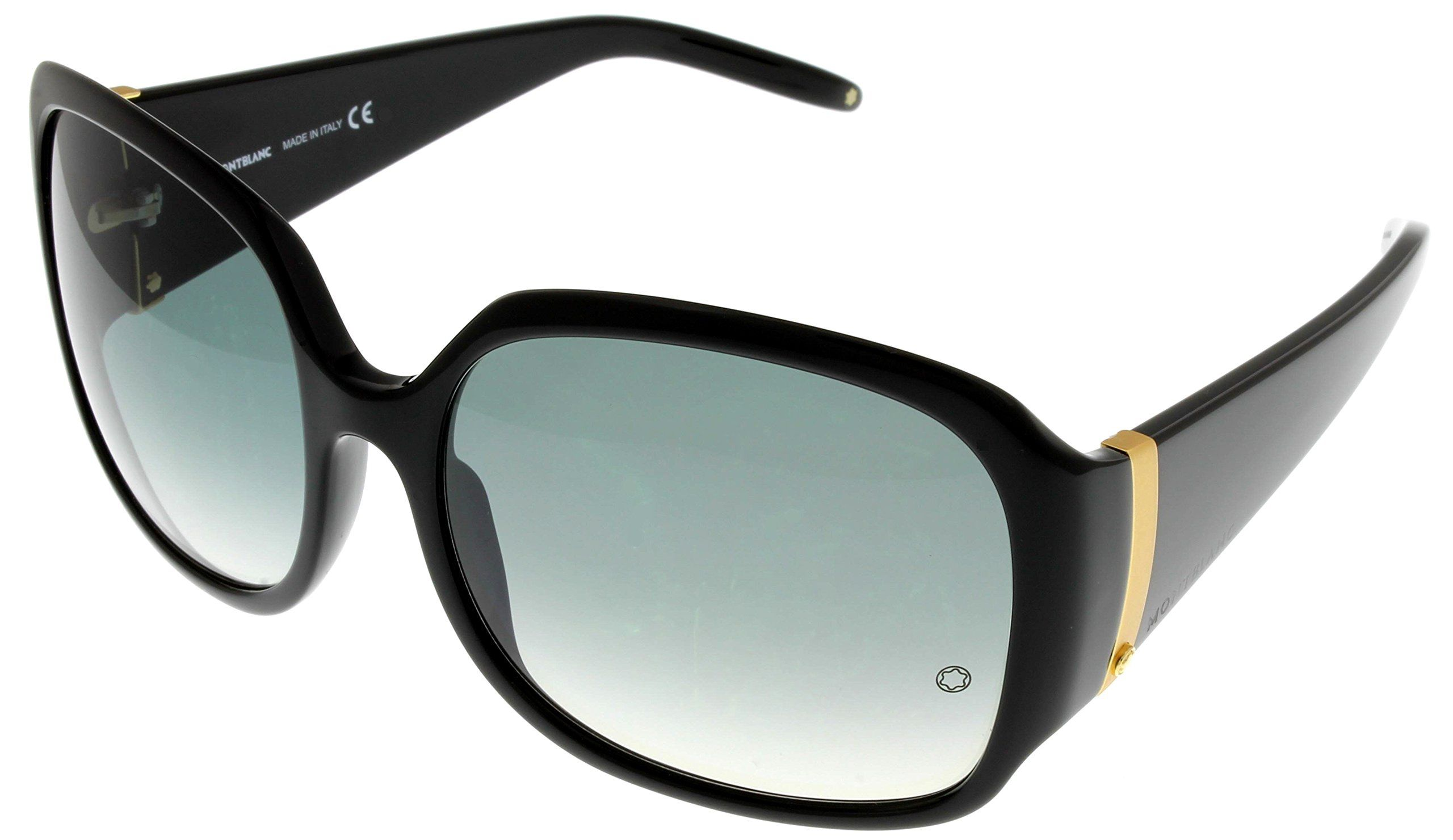 8dfe7f947d Mont Blanc Sunglasses Womens MB221S 0B5 Black. Frame Color Black. Lens Color