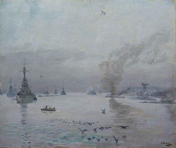 The Fleet:  A Misty Day, the Firth of Forth  John Lavery