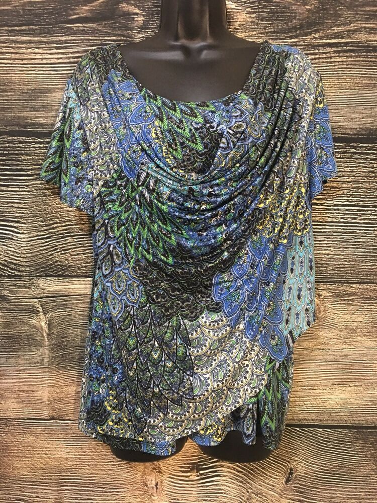 Dress Barn Plus Size Dressy Tops : dress, dressy, Dressbarn, Pattern, Color, Floral, Paisley, Women's, Dressy, #fashion, #clothing, #shoes, #acce…, Tops,, Womens