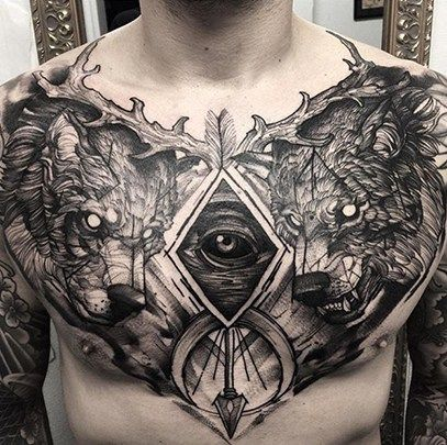 Male Chest Tattoos Inked Magazine Cool Chest Tattoos Tattoos For Guys Badass Chest Piece Tattoos